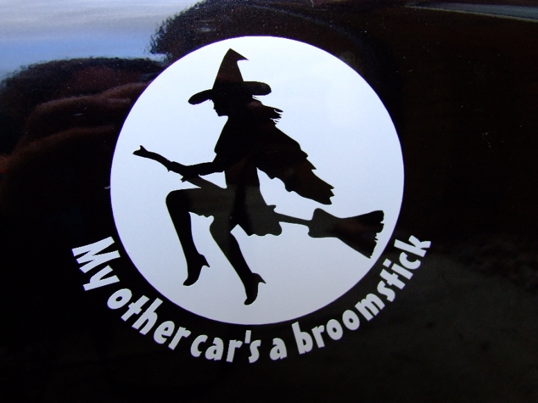 My other car's a broomstick